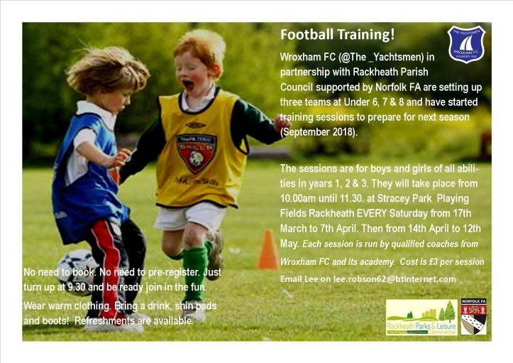 training session flyer